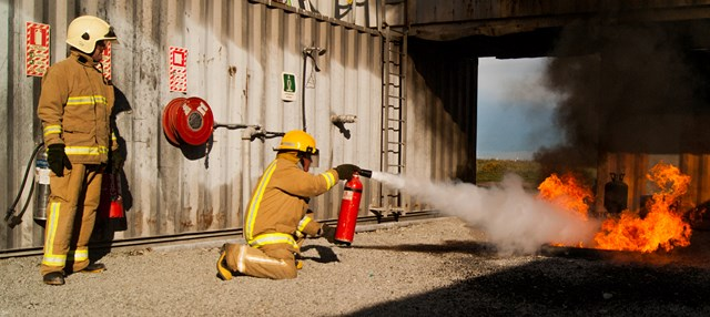 Fire Extinguisher in action